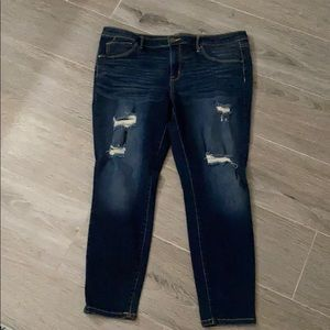 Mission distressed jegging jeans